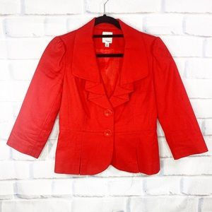 Halogen Red 3/4 Sleeve Blazer